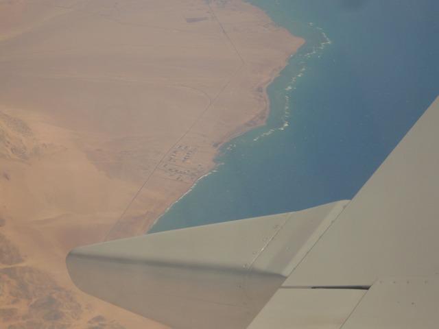 Вид из элюминатора: Синайский полуостров