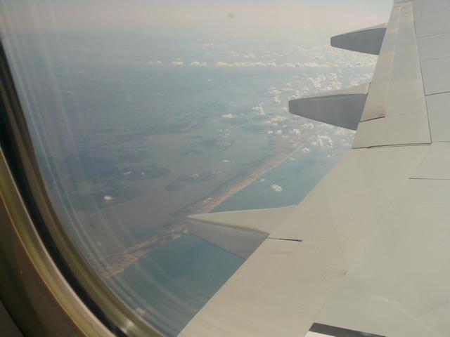 Вид из элюминатора: Побережье средиземного моря