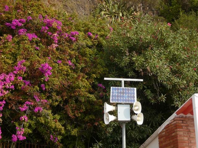 Солнечные батареи на столбе