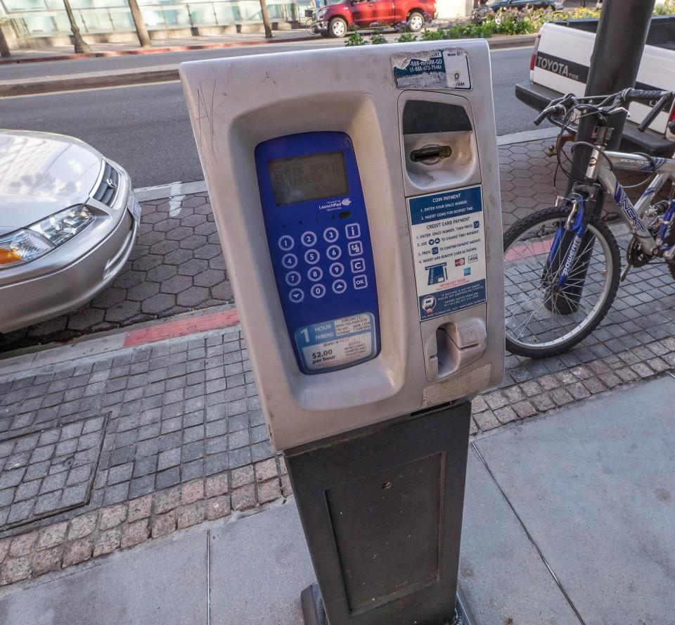 Парковочные автоматы в Лос-Анжелесе