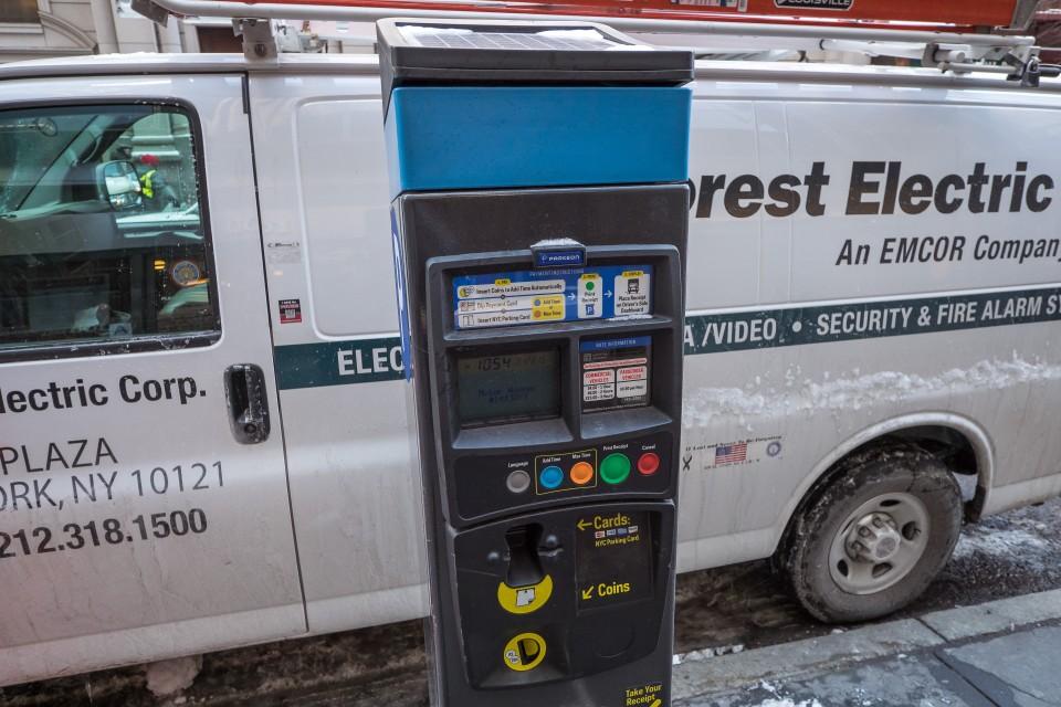 Парковочные автоматы в Нью-Йорке