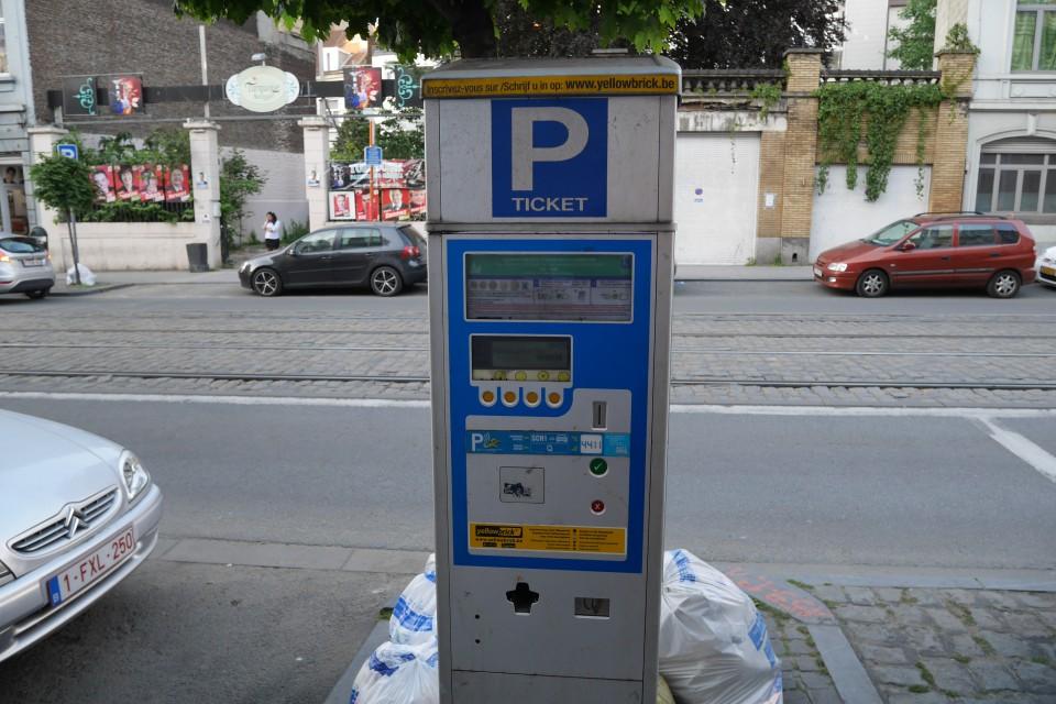 Парковочные автоматы в Брюсселе