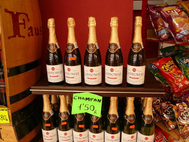 Цены в Испании. Вино