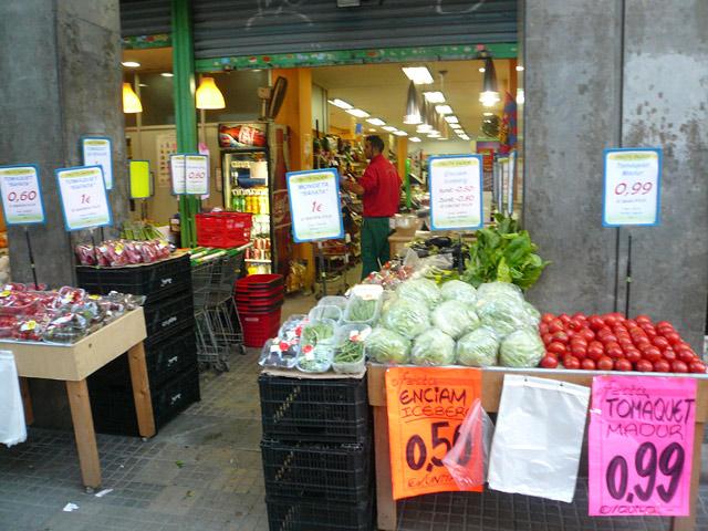 Цены в Испании. Овощи