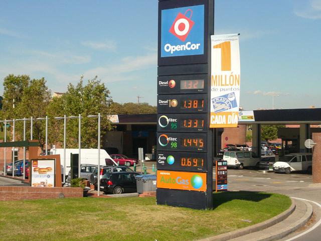 Цены в Испании. Бензин