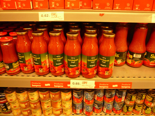 Цены в Испании. Кетчуп