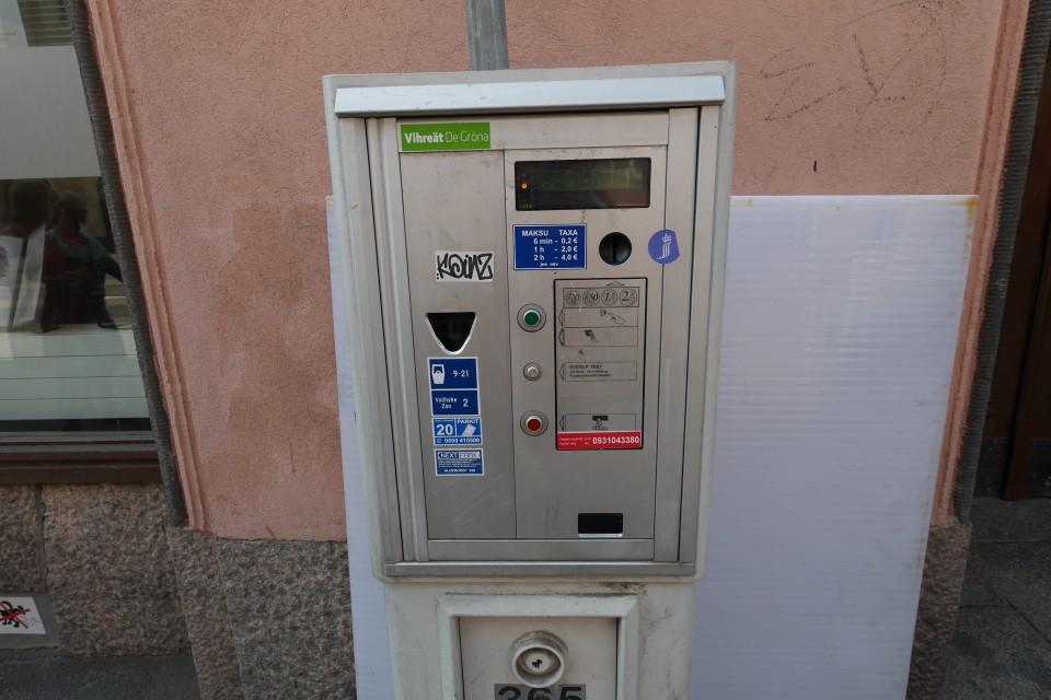 Парковочные автоматы в Хельсинки