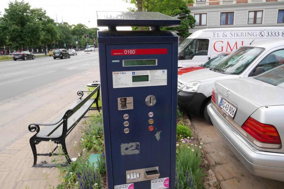 Парковочные автоматы в Копенгагене