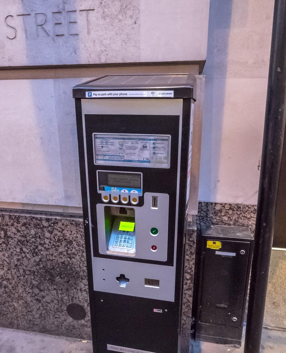 Парковочные автоматы в Лондоне