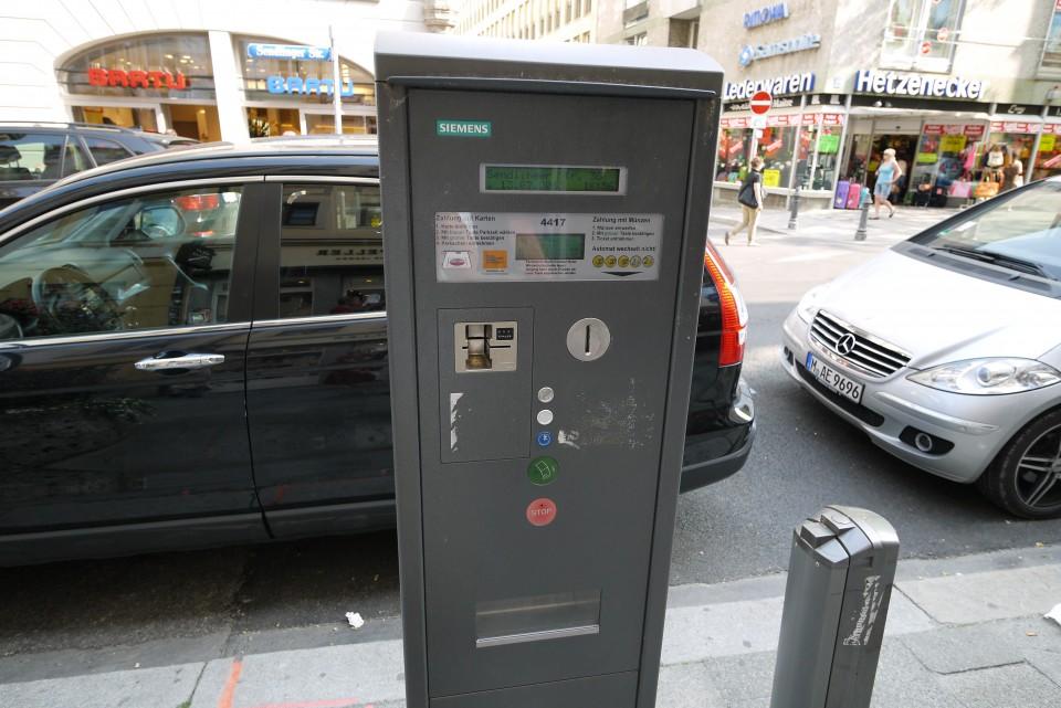 Парковочные автоматы в В Мюнхене