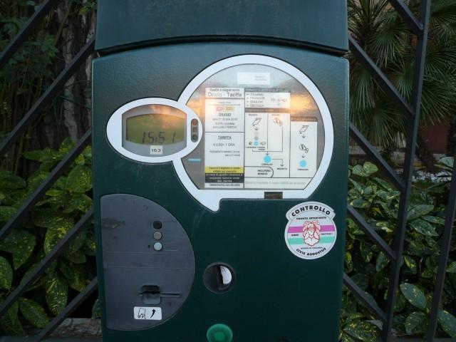 Парковочные автоматы в Италии