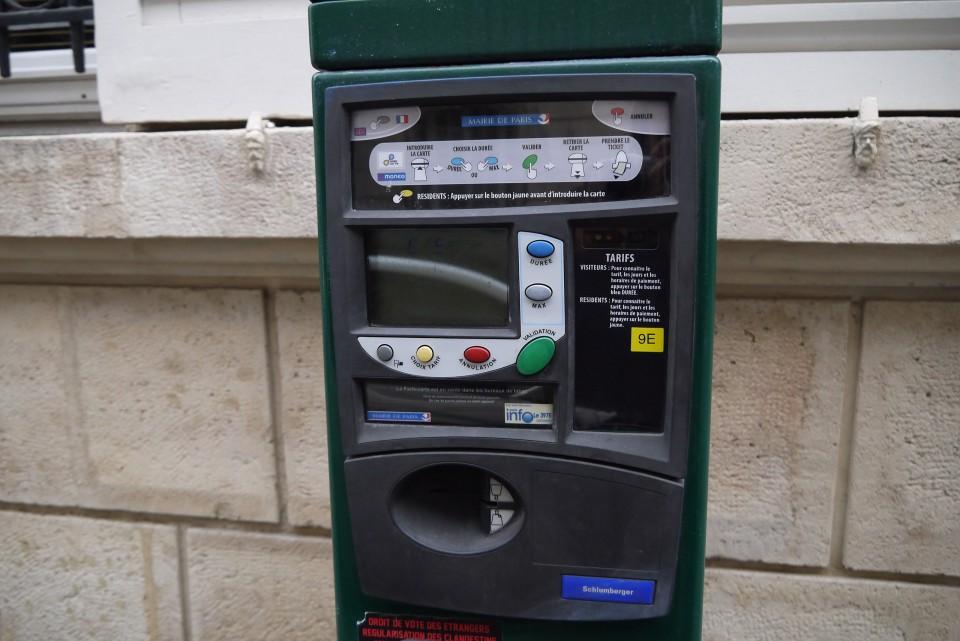Парковочные автоматы в Париже