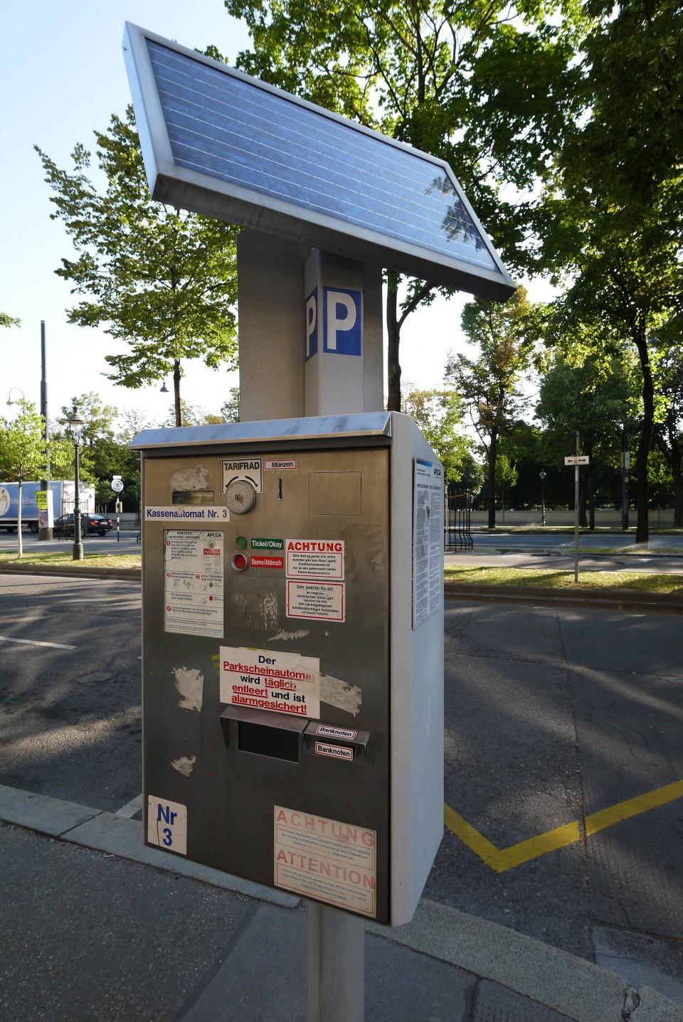 Парковочные автоматы в Вене
