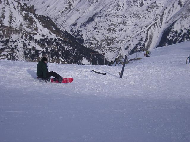 Первый раз на сноуборде