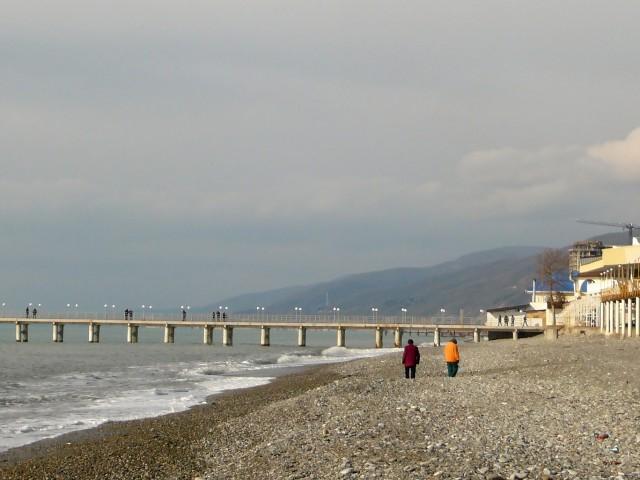 Лазаревское зимой