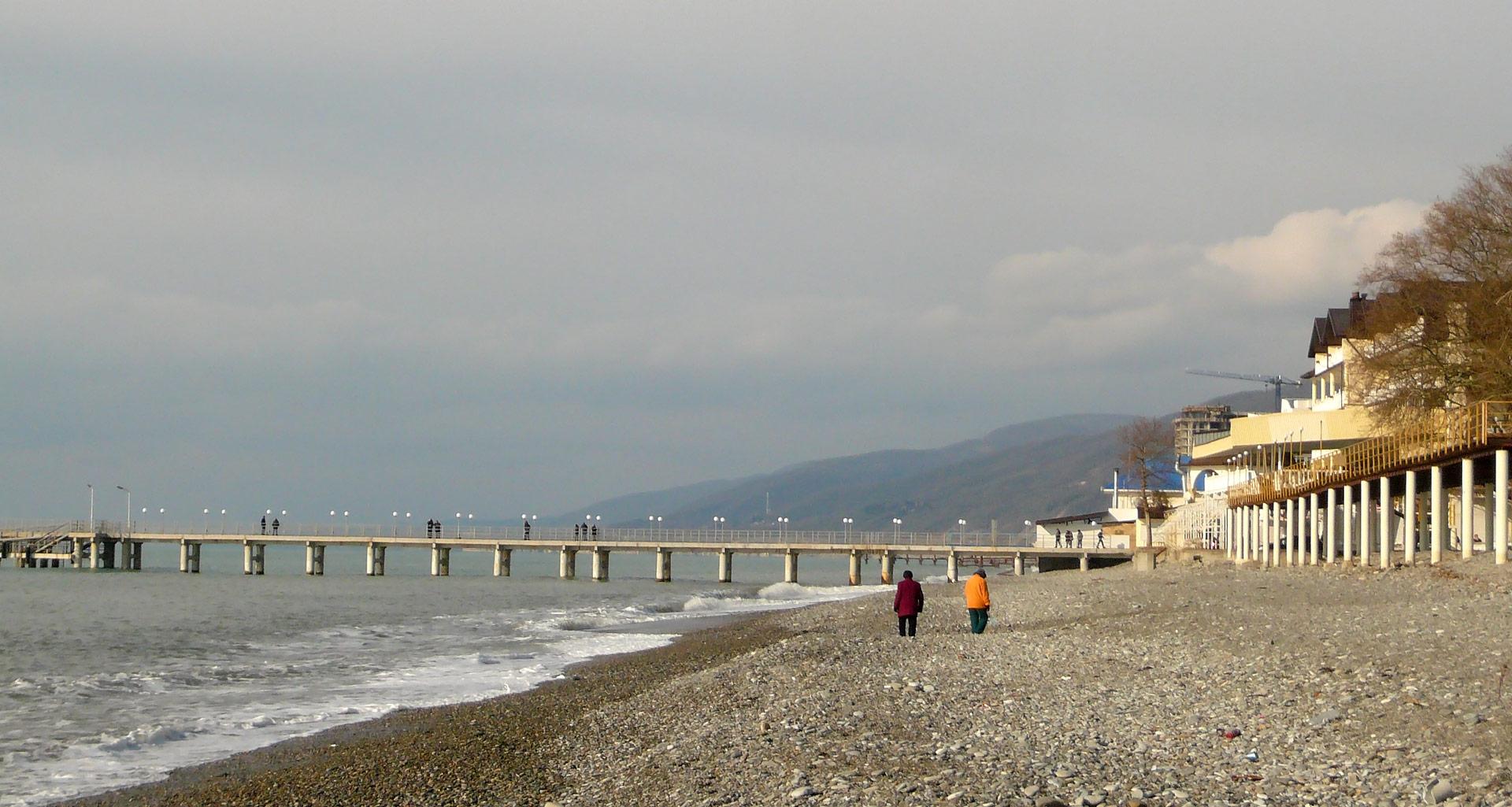 Пляж пансионата гренада в лазаревском фото