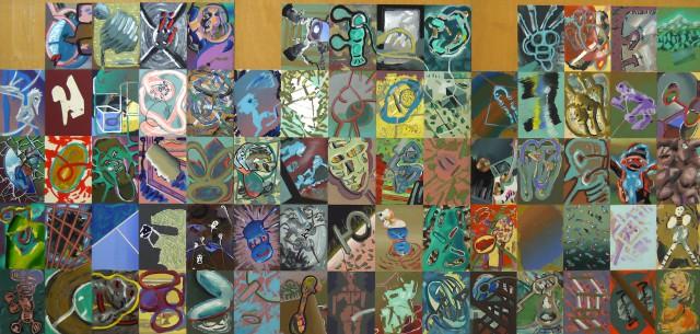 3 (5x5-1), 1981 (Luis Gordillo)