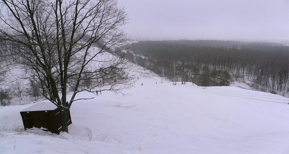 Горка в Курске на Хуторской. Вид сверху