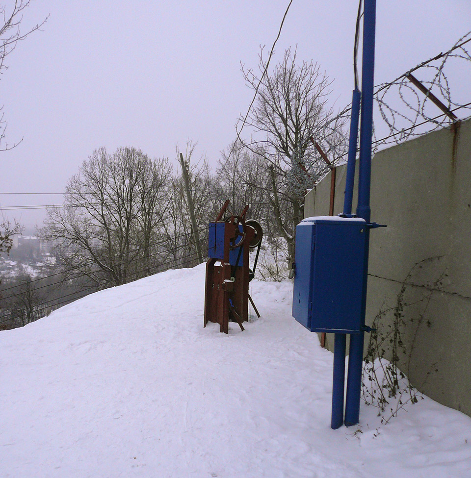 Горка в Курске на Хуторской. Подъемник