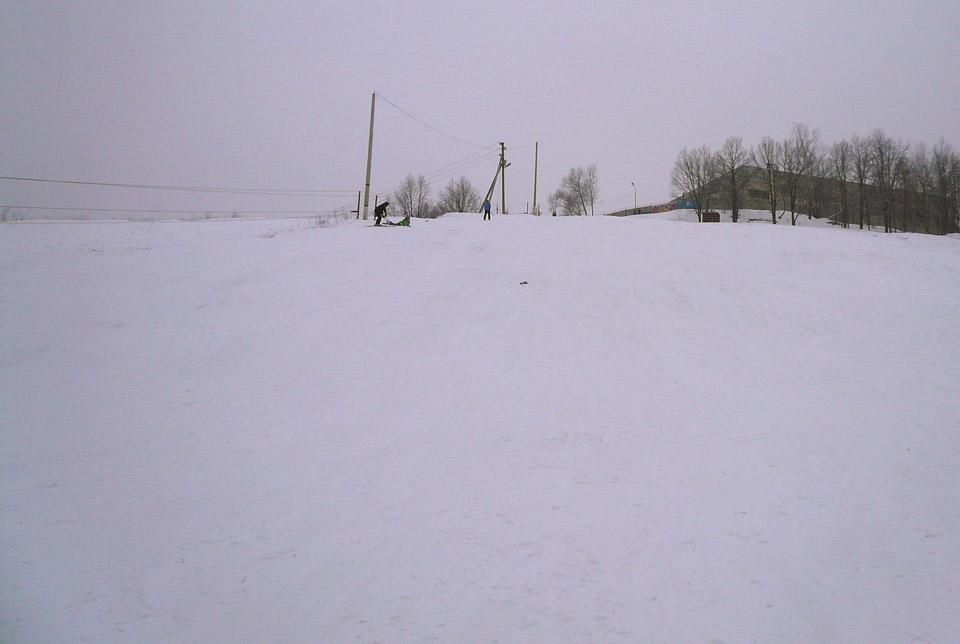 Горка в Курске на Хуторской. Вид снизу