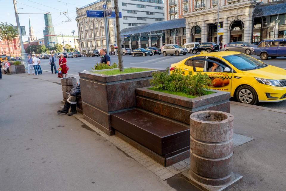 Лавочки в Москве