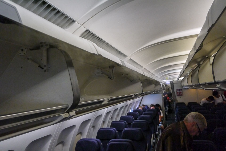 Пар в самолете от кондиционеров
