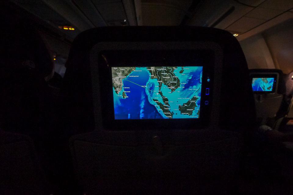Монитор в спинке сидения в самолете AirBerlin