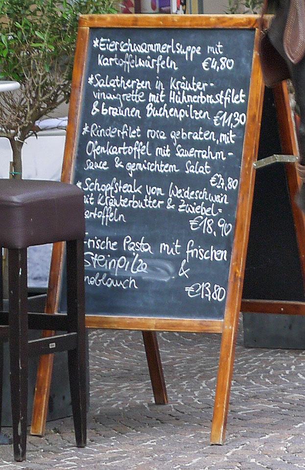 Цены в Зальцбурге