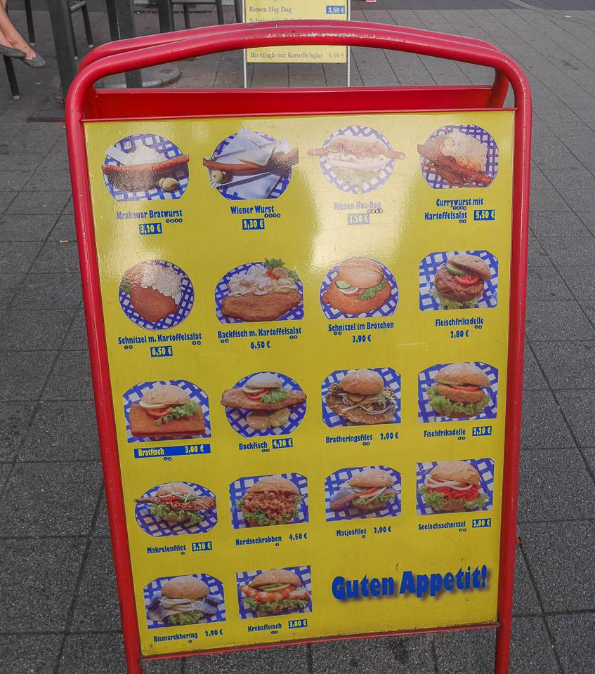 Цена гамбургеров в Гамбурге
