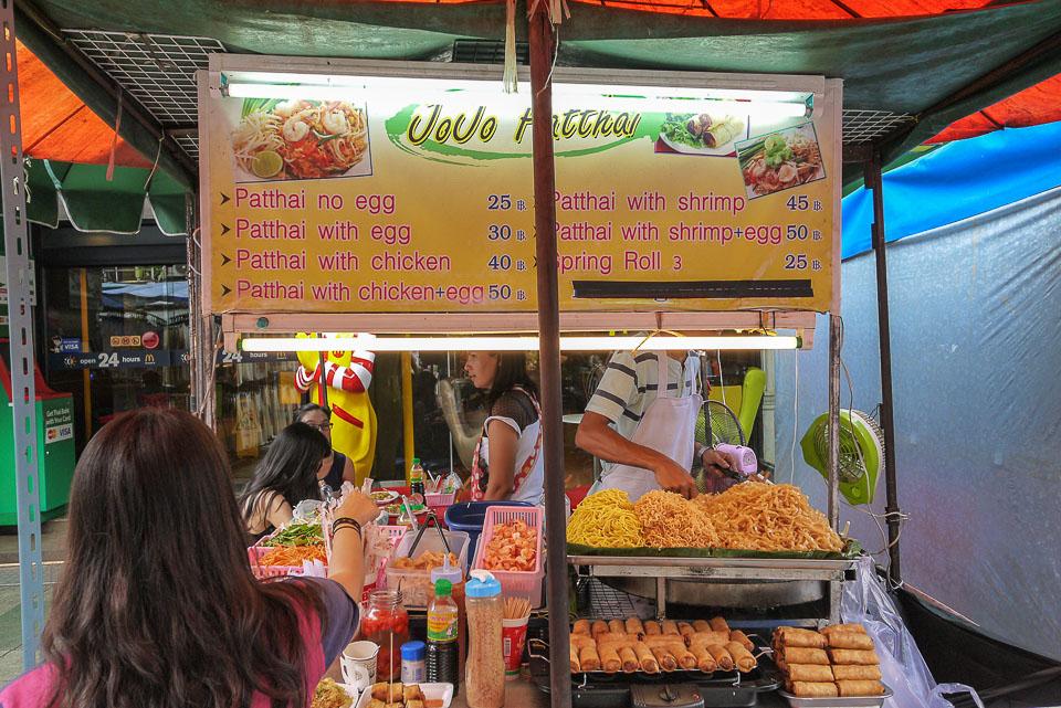 Цены на Као Сан роуд (Бангкок)