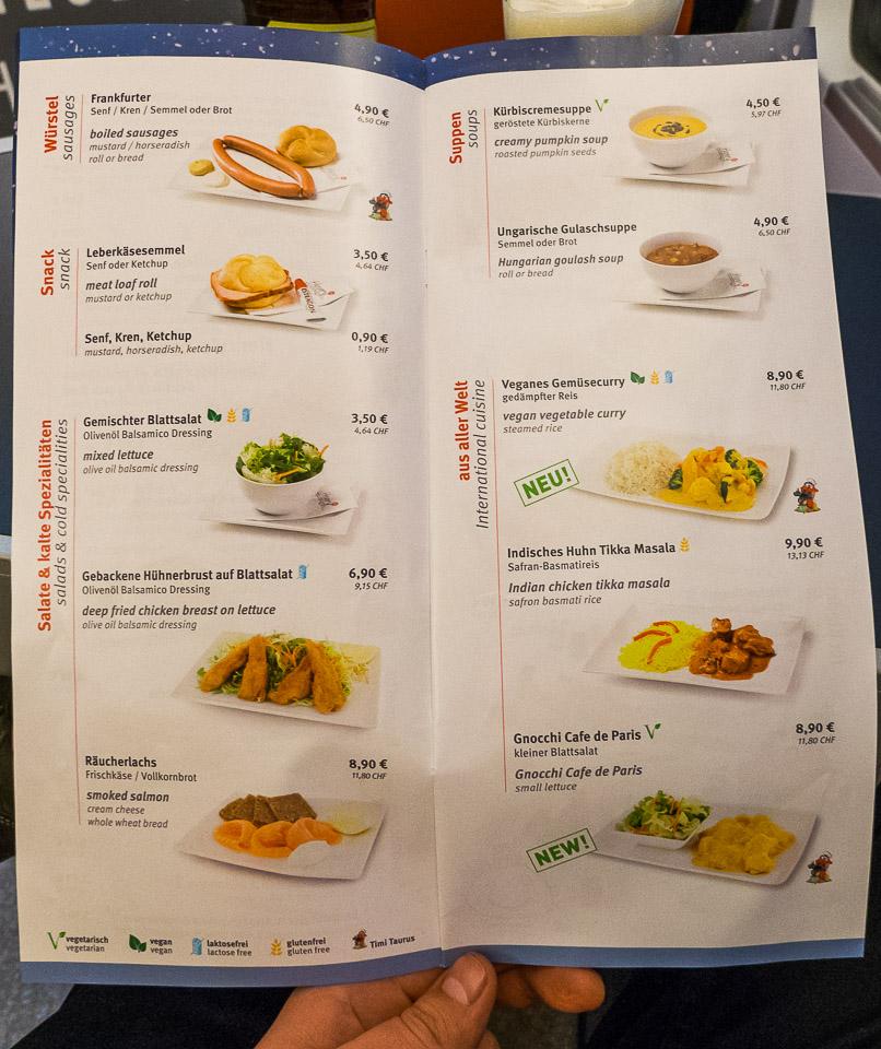 Вагон-ресторан в поезде OBB RJ165