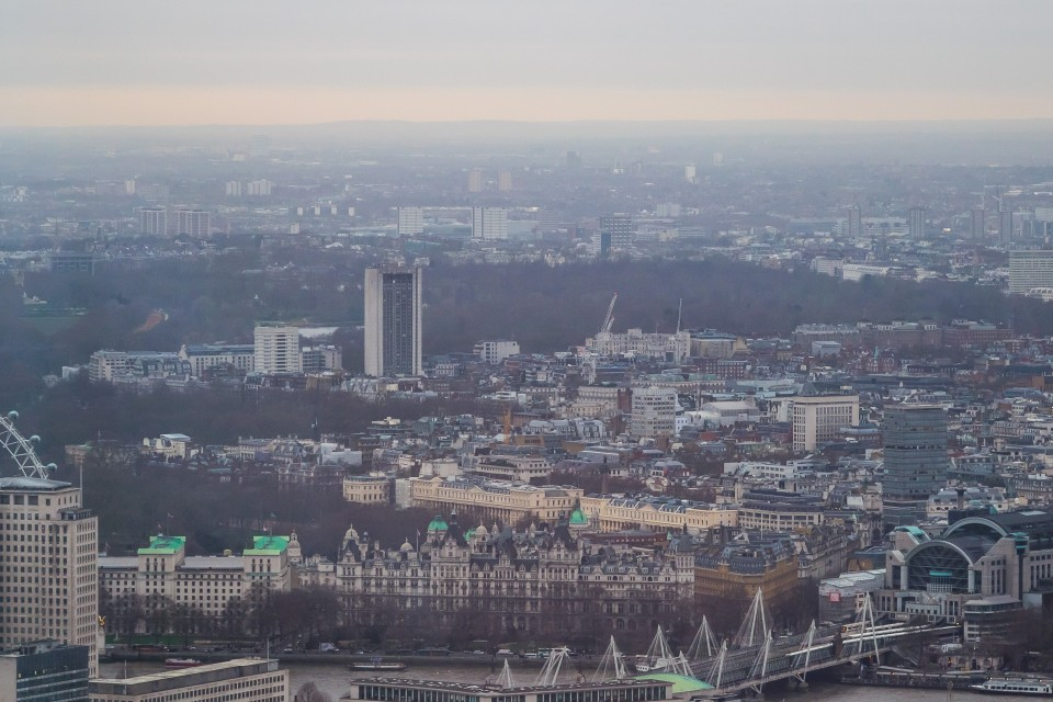 Смотровая площадка небоскреба Shard в Лондоне