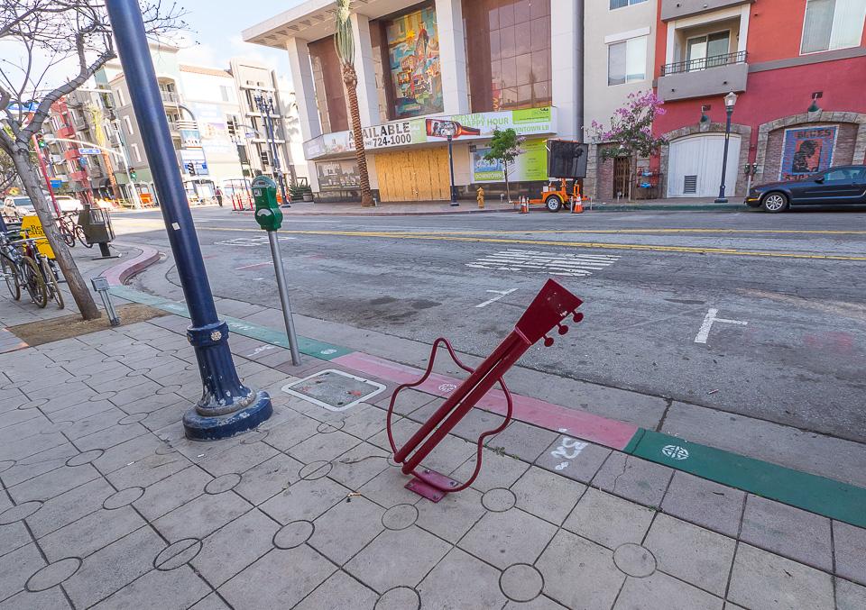 Велопарковка в Лос-Анжелесе