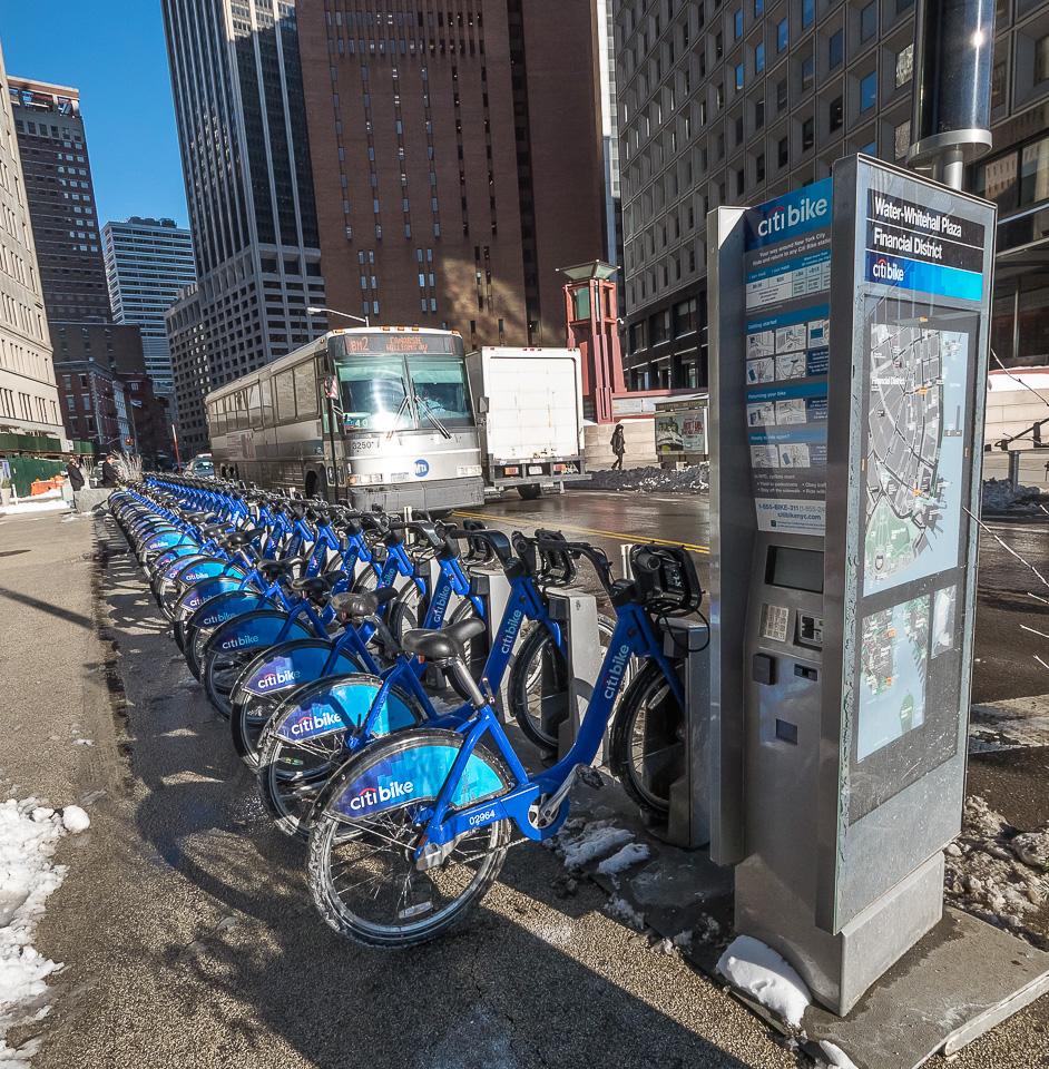 Городские велосипеды в Нью-Йорке