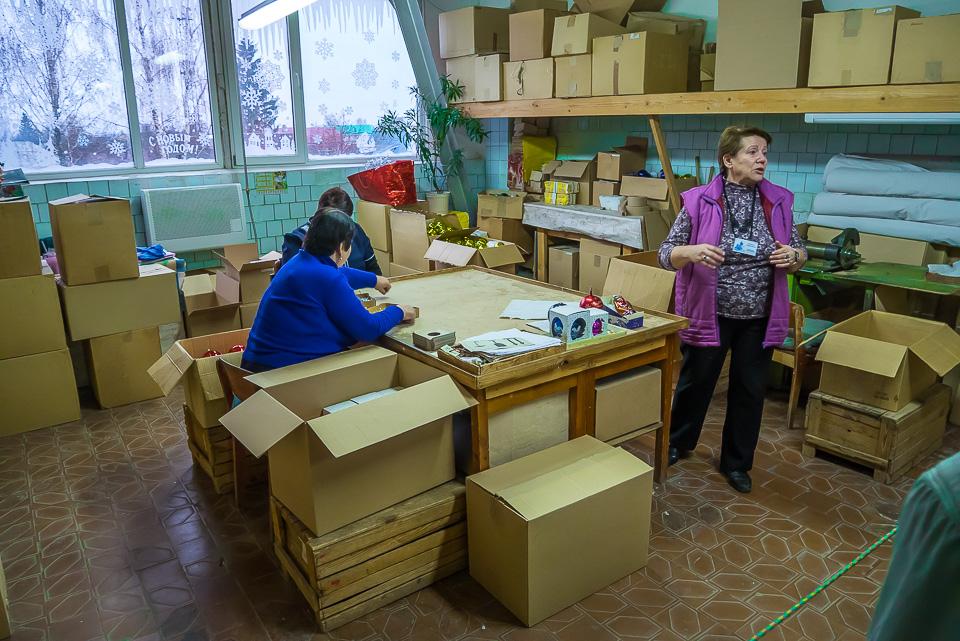 Новогодние игрушки в городе Карачев