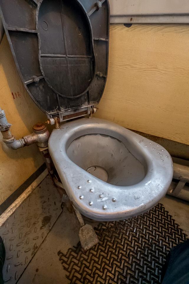 Туалет в старом плацкартном вагоне РЖД