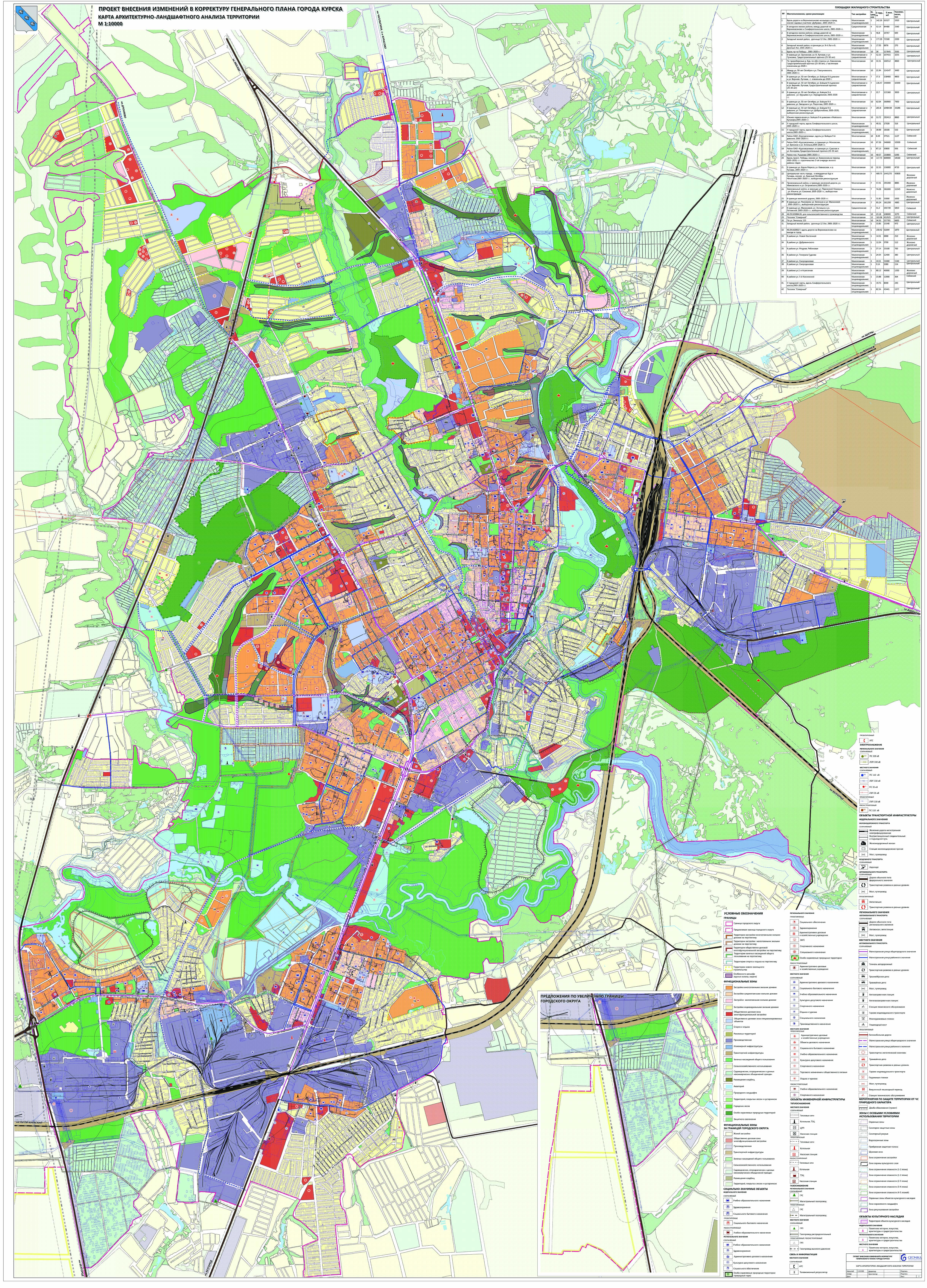 карта города курска