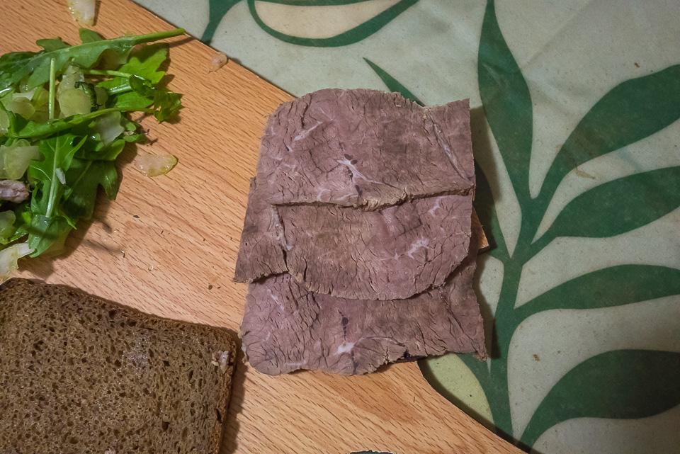 Сэндвич с говядиной и сельдереем