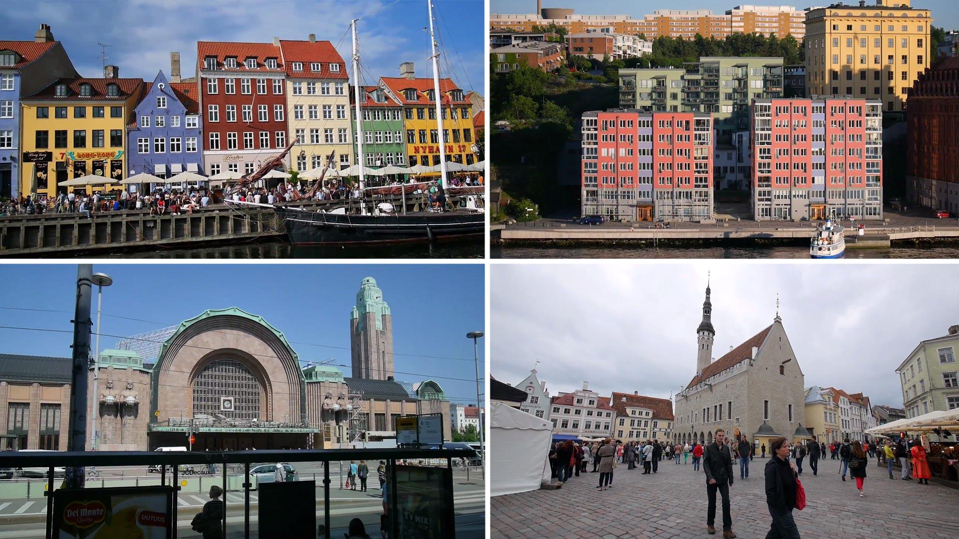 Видео: Копенгаген, Стокгольм, Хельсинки, Таллин и др.
