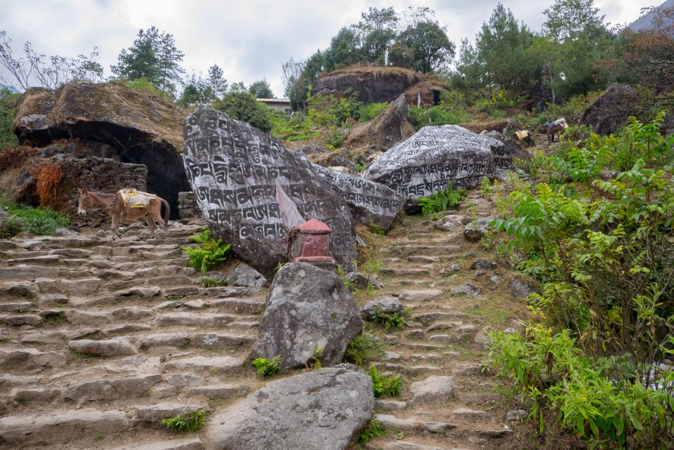 Большие камни на подходе к Чаурикхарке