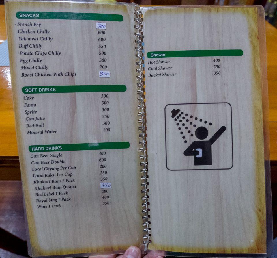 Family logde меню