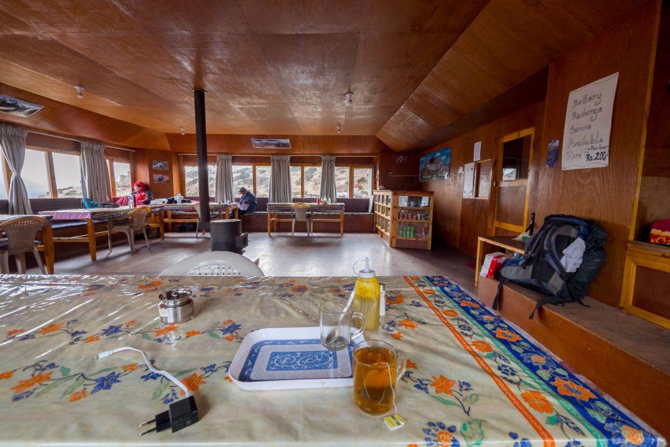 В гостиной лоджа Stupa Inn