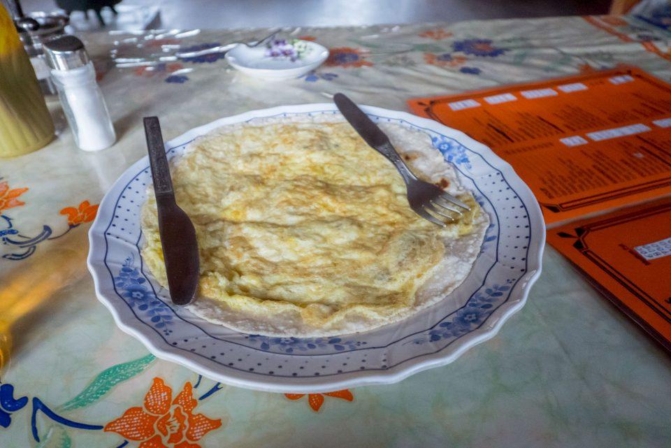 Блин с яйцом