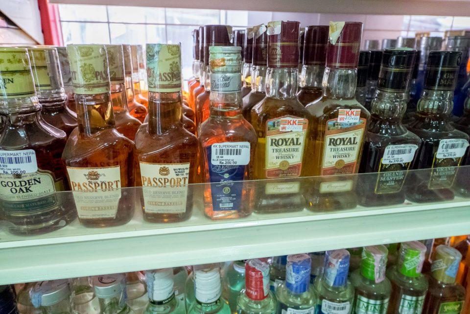 Цены на алкоголь в Непале