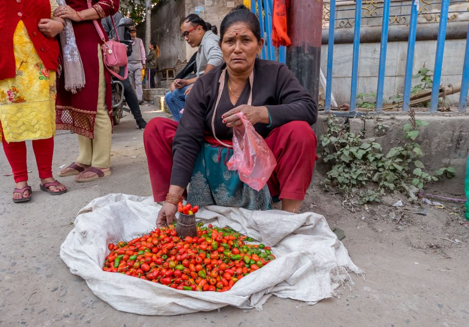 Продавщица перца в Катманду