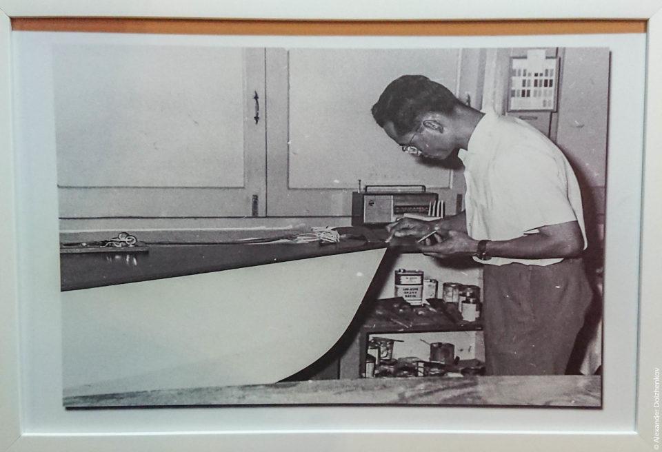 Король Рама 9 строит лодки