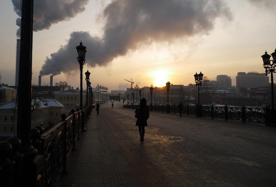 Восход над мостом