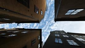 Небо среди домов